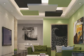 False Ceiling Civil Work Foundation House Security Guard Cabins Interior